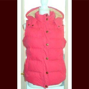 Boden sz 8 pink gold hooded vest